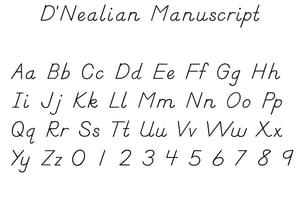 DNealian_Manusript