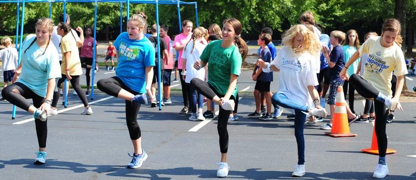 MS girls dance retreat
