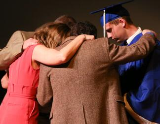 praying over graduate